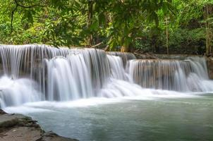 bellissima cascata nella foresta foto