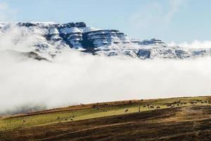 nebbia in aumento montagne della valle