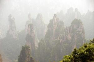 parte dell'area panoramica di wulingyuan della parte della foresta nazionale di zhangjiajie. foto