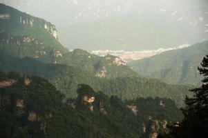 parte dell'area panoramica di wulingyuan della parte della foresta nazionale di zhangjiajie.