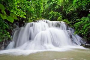 cascata d'acqua, hua mae kamin livello 3 kanchanaburi thailandia