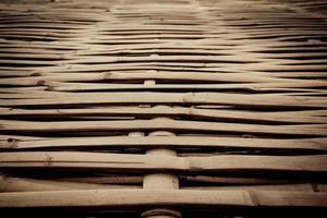 struttura in legno di bambù foto