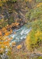 canyon di granito nella gola guzeripl. foto