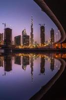 lo skyline di Dubai foto