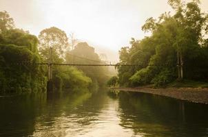 paesaggio di un fiume in Malesia
