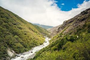 valle di montagna foto