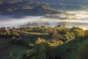 vista sulla campagna in Transilvania