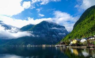 vista panoramica del paesaggio di hallstatt, austria