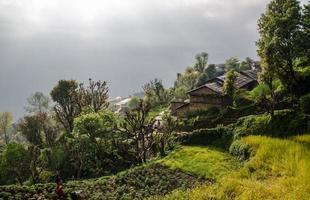 villaggio di montagna di ghandruk a pokhara, nepal foto