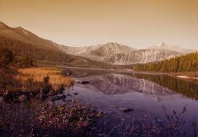 natura vista panoramica paesaggio montano tranquillo concetto foto