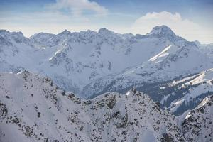 Alpi tedesche innevate