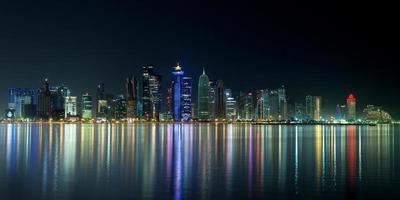 skyline di Doha foto
