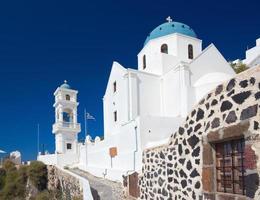 santorini - la chiesa anastasi a imerovigli. foto