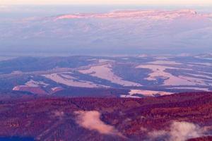 montagne di vista aerea