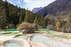 parco nazionale di huanlong nella provincia di sichuan, in cina