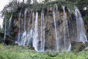 cascata nel parco nazionale di plitvice foto