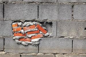 muro di mattoni del grunge foto