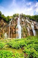 cascate nel parco nazionale dei laghi di plitvice foto