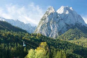 montagna waxenstein foto