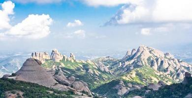 montagne di Montserrat foto