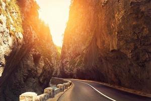 strada di montagna foto