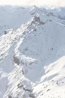 montagna innevata foto