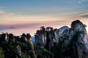montagne gialle di Huangshan foto