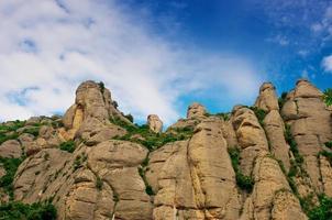 montagne di Montserrat in Spagna foto
