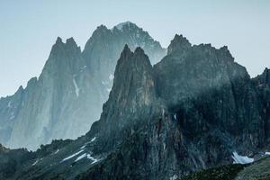 le alpi sopra Chamonix foto