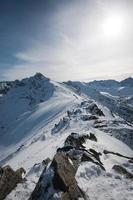 picco kasprowy wierch sui monti tatra foto