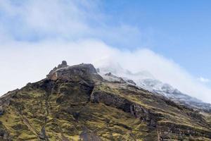 cima della montagna in Islanda foto