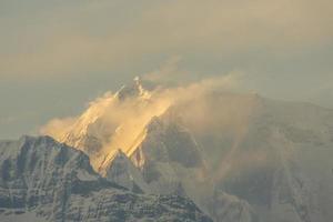 Annapurna catena montuosa della neve foto