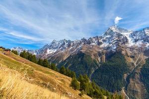 vista panoramica della valle di loetschental foto