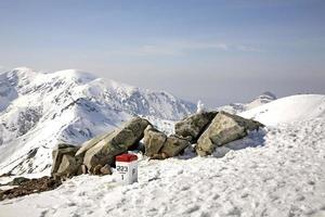 posto di frontiera nei monti tatra vicino a zakopane. Polonia foto