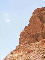 montagna rocciosa in marocco. foto