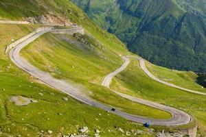 Transfagarasan strada di montagna, carpazi rumeni foto