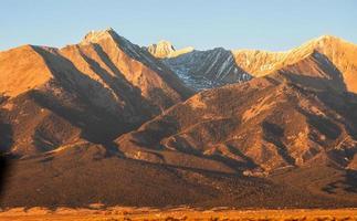 blanca peak colorado 14er direct sun bagliore alpino foto