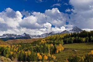 montagne del colorado in autunno foto