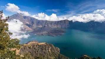 panorama di un vulcano attivo