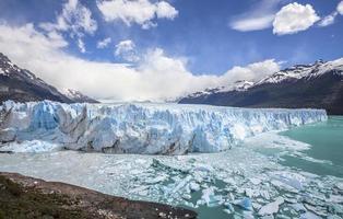 bellissimo ghiacciaio. foto