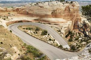 autostrada di montagna panoramica