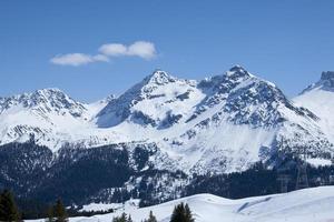 schneebedeckte berge