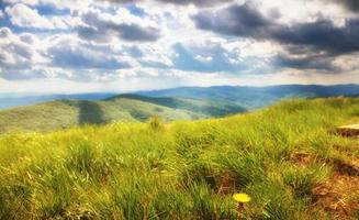 montagne colline paesaggio bieszczady polonia