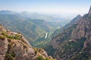 montagna vicino a montserrat. catalogna, spagna foto