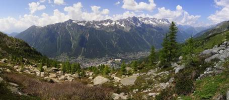 vista dall'alto di Chamonix