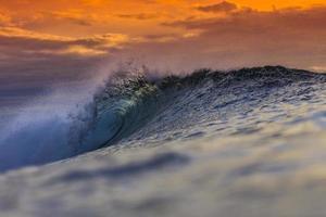 onda dell'oceano colorato foto