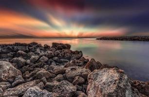 sole sull'oceano foto