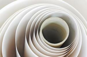 rotolo di carta in un impianto di stampa foto