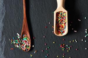 puntini di zucchero cospargere foto