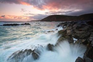 paesaggio marino, Cornovaglia, Regno Unito.
